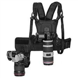 Micnova MQ-MSP01 Multi Camera Carrying Chest Harness System Vest with Side Holster